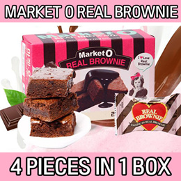 Market O Real Brownie 12 pieces/3 boxes /chocolate pie/Korean Food/Snacks/Office Snack/Baby/Kids