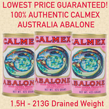 [USE COUPON HERE]【JUMBO CALMEX ABALONE】♛100% Genuine if not money back!  ♛ 1.5H 213g BEST QUALITY!