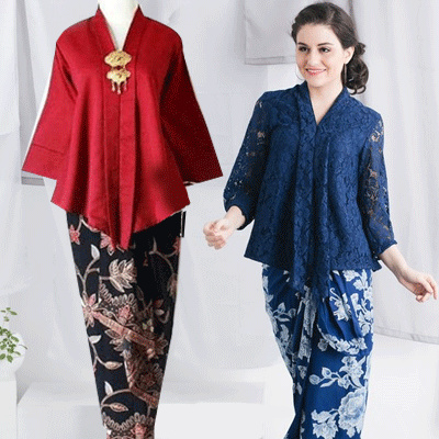 Collection of Blouse Tops Kebaya Suits and Batik Lilit Skirt ~~ free  shipping ~~ 49e28af733