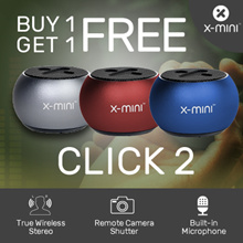 *Restocked* Buy 1 Get 1 Free ! Online Exclusive Colours Launch !! X-mini™ CLICK 2 Portable speakers