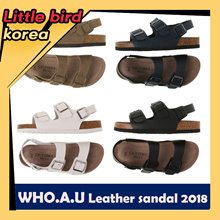 2018 New arrival★ 【E-LAND WHO.A.U】 Buckle leather sandal for unisex / 4 colors