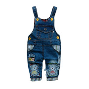 07943b208cb2 sale Baby Boy Girls Denim Overalls 2018 Spring Jumpsuit Kids Clothes Infant  Jean Pants Toddler Salop