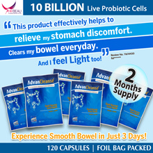 $34.95 each! IMPROVE YOUR INTESTINAL HEALTH Avalon AdvanCleanse - 10 Billion Live Probiotic Cell