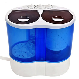 Portable Mini Washing Machine Compact Twin Tub 7.7lb Washer Spinner