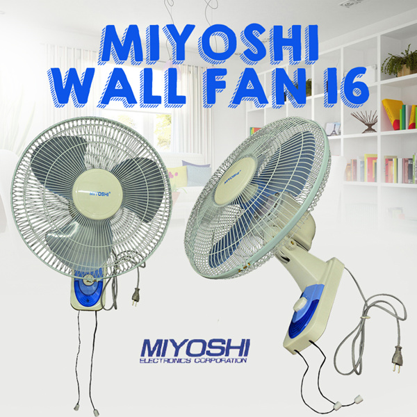 Miyoshi Wall Fan 16 Kipas Angin Dinding Denga Harga Paling Murah Deals for only Rp150.000 instead of Rp150.000