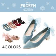 Gracegift-Disney Frozen 2 Way Ribbon Sparkle Heels/Women/Ladies/Girls Shoes/Taiwan Fas
