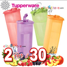 TUPPERWARE Fridge Water Bottle 2L / Strainer / Pouch / Mini Pour / 2L ECO Bottle