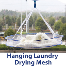 [Stocks in SG] ★Hanging Laundry Drying Mesh★Hanging Clothes Laundry Basket Dryer Net Mesh Sweater Drying Rack Folding /Mesh Drying 1-Tier Clothes Hanging Dryer Rack Laundry Folding Sweater