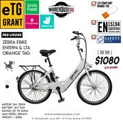 Preorder ZEBRA eBike 9AH 36V Electric Bicycle LTA Approved EN15194 Standard