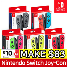 Nintendo Switch JOYCON Controllers Set ★ Neon Green Pink / Neon Red Blue / Grey / Neon Yellow