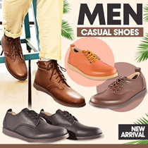 ★★NEW ARRIVALS★★ ADAMSBELL MEN CASUAL SHOES - BOOTS - PREMIUM SYNTHETIC LEATHER - FLAT PRICE