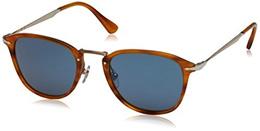 Persol PO3165S 960/56 Striped Brown PO3165S Square Sunglasses Lens Category 2 S