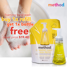 FREE BOTTLE with purchase of method handw wash refill | naturally derived | made In USA