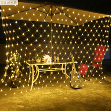 LED lights flashing lights fishing nets Christmas waterproof decorative curtain lights mesh  light