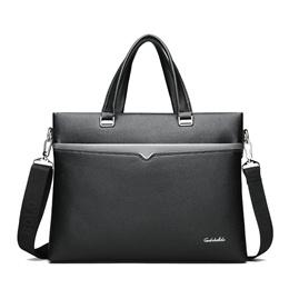 Laptop Briefcase Handbag For Men Genuine Cow Leather Business Bag