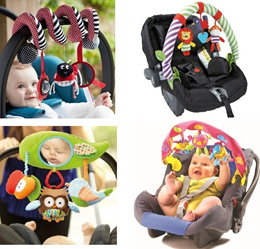 Sozzy /baby ELC Lamaze activity spiral car seat arch stroller cot toy hanging bar