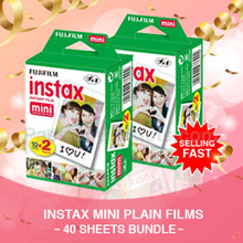 ♥♥LOWEST PRICE!♥FREE GIFT♥ Instax Mini Plain Films 40 SHEETS BUNDLE Polaroid Mini 90 8 7s 25 50s 70