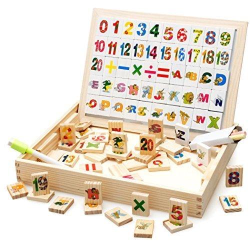 [Dokpav] 天才児の第一?!お絵かきのおもちゃ 赤ちゃん 子供のかわいいおもちゃ 木製 お絵かきボード 想像力を育てる知育玩具 赤ちゃんの認知能力 実践力 想像力が練習しましょう!(デジタ
