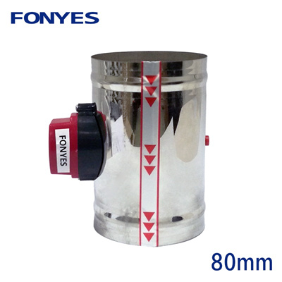 80mm stainless steel air damper valve HVAC electric air duct motorized  damper for 3 inch ventilation