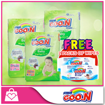 [FREE 2packs of GOON Wipes!!]★GOON★ GOO.N Cheerful Baby Pants x 3packs