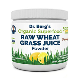 [USA]_Dr. Bergs Nutritionals Organic Wheat Grass Juice Powder - Raw  Ultra-Concentrated Nutrients -