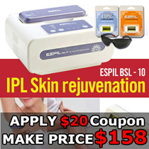[Make Price $158] ♥Espil IPL Laser Hair Removal BSL-10♥ with Skin Rejuvenation Lamp Safety Glasses