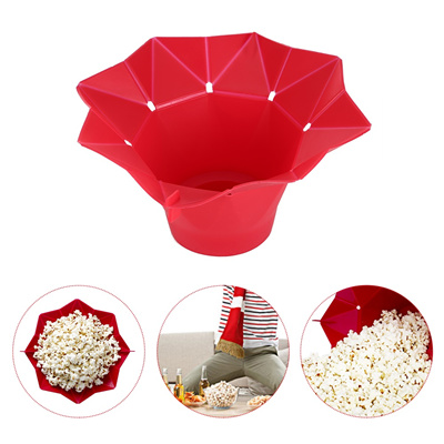 Folding Microwave Silicone DIY Popcorn Maker Container Baking Tools Fold Bucket Popper Bowl Healthy