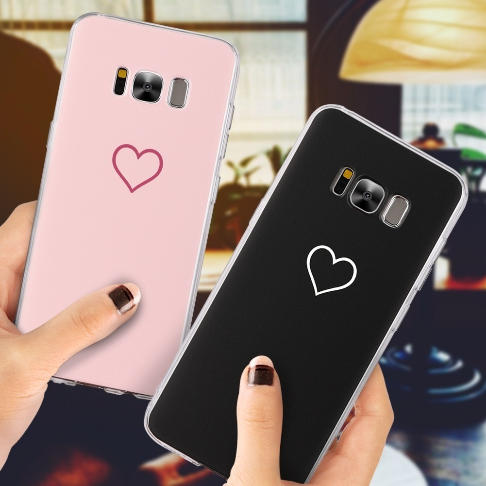 new arrival e1748 db74f Love Heart Pink Color Case for iPhone 6 S 6S Plus 7 8 Plus X 5 5S SE Cover  Coque For Samsung Galaxy