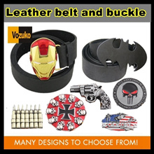 superhero leather belt with buckle many design batman*ironman avengers*spiderman man*superman*