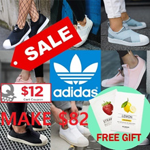 [ADIDAS] MAKE $82 ★FREE GIFT★[ADIDAS] 2018 NEW Superstar Slip on/Casual Sneakers/100%AUTHENTIC/12 Types
