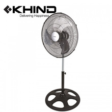 KHIND Industrial Stand Fan 18&quot  Adjustable Height Aluminum Blade (SF1812)