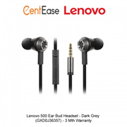 Lenovo 500 Ear Bud Headset - Dark Grey (GXD0J36357) - 3 Mth Warranty