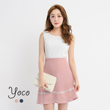 YOCO - Laced Dress with Laced Detail-171579