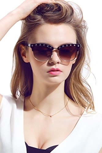 11dc48a99be86 Diamond Candy Women s Sunglasses UV Protection Polarized eye glasses  Goggles UV400 48Brown