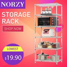 5 Tier Rack/Shoe Rack/Kitchen Storage Rack Shelf Organizer/Microwave Rack/Cabinet Shelving/Storage