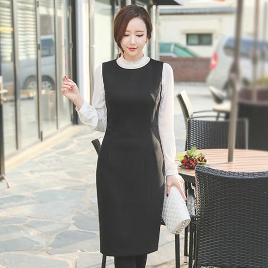 オッドシンプルレイヤードワンピースDRH462 スーツワンピース/ 韓国ファッション