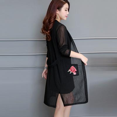 2018 Summer coat Women s large slim sun-resistant clothes plus mast code outside the