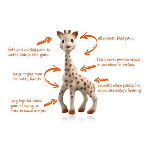 Novel Silicone Teether Giraffe Teething Pendant Necklace Baby Chew Molar Toy GA