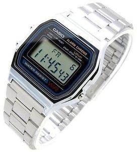 70542a6486e New Casio A158WA-1A Vintage Retro Silver Digital Alarm Chrono Watch A158  A158W