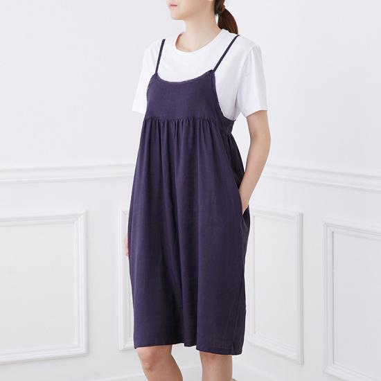 ボニーのアレックス・なしリンネンワンピースBBOZ531A 面ワンピース/ 韓国ファッション