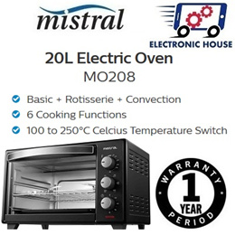 ★ Mistral MO208 20L Electric Oven ★ (1 Year Singapore Warranty)