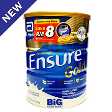 Ensure Gold Vanilla 850g (New Stock) 【APPLY COUPON SAVE MORE】