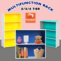 New Variant FUNIKA 11240  FUNIKA 11241 BL-WH  FUNIKA 11242 BL-WH Rak Buku 2 / 3 / 4 Tingkat
