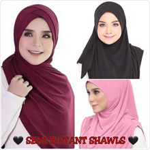 * Restock 17/9/18 * Semi Instant/Instant Shawls | Lycra/Moss Crepe | Cotton | Muslimah |