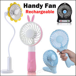 【SG Fast Delivery】Cute Portable Fan ◇ USB Rechargeable Handheld Adjustable Fans For Home and Outdoor