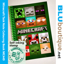 Ful colour Minecraft Task Book Minecraft Note Book Minecraft Colouring Book Self-inking Stamp