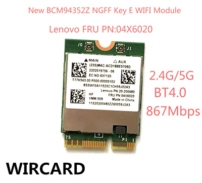 WIRCARD NEW BCM94352Z WLAN Bluetooth 4 0 network card 867Mbps FRU 04X6020  wifi adapter for Lenovo la