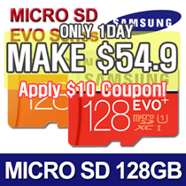 [MAKE $54.90!] ★ Authentic Samsung Micro SDXC 128GB EVO / EVO Plus / Class 10 ★Micro SD Card Memory