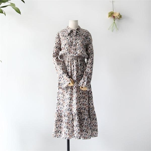 リボンOPS new フレアワンピース/ワンピース/韓国ファッション