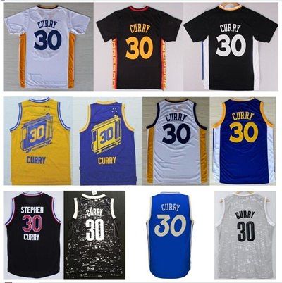 buy popular 07ee4 1e83e Cheap #30 Stephen Curry Jersey Blue White Yellow Retro Jersey Best Quality  Rev 30 Basketball Jerseys 2016 Christmas Blue Jerseys